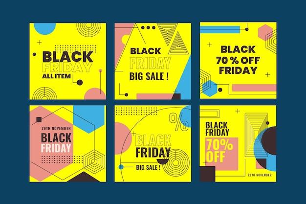 Pack de publication instagram du vendredi noir