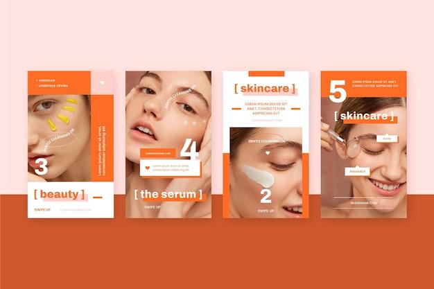 Pack de publications instagram beauté plat