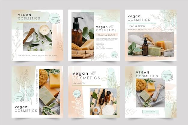 Pack de publications instagram cosmétiques