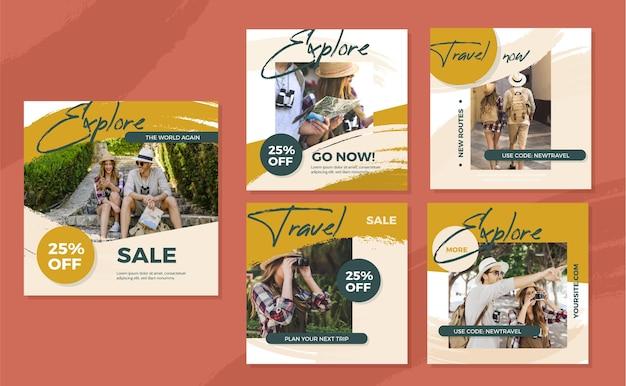 Pack de publications instagram de voyage