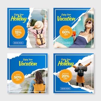 Pack de publications sur les réseaux sociaux de vente itinérante