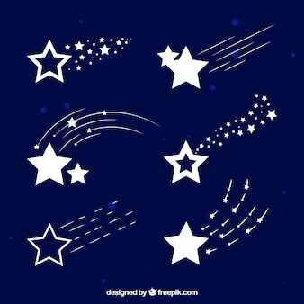 Pack de sentier d'étoiles blanches