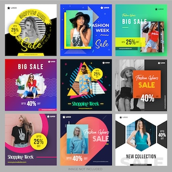 Pack shopping sur les réseaux sociaux pour le marketing