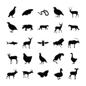 Pack silhouette animaux