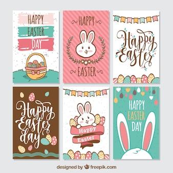 Pack de six cartes de pâques créatives