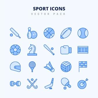 Pack de sport icône vecteur