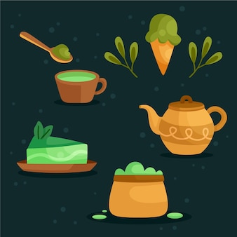 Pack de thé matcha