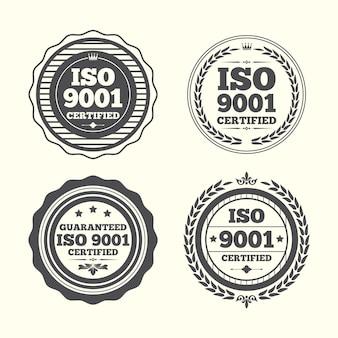 Pack De Timbres De Certification Iso Vecteur Premium