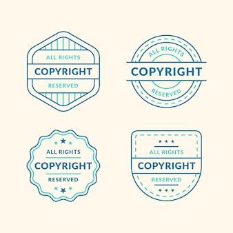 Pack de timbres de droit d'auteur vintage