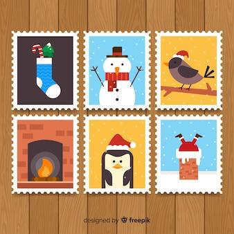 Pack de timbres de noël