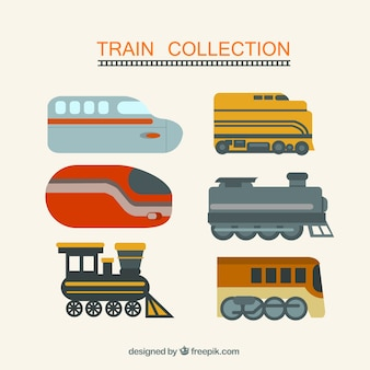 Pack de train coloré
