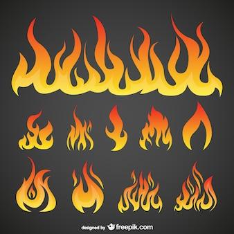 Pack vecteur flames