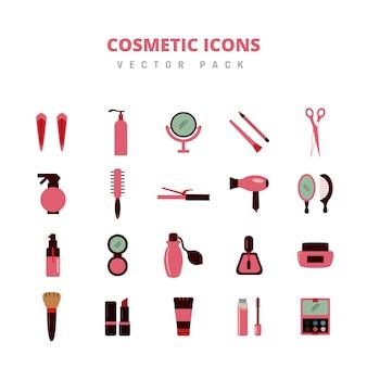 Pack de vecteur d'icônes cosmétiques