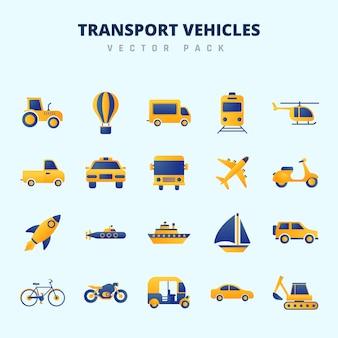 Pack vecteur de véhicules de transport
