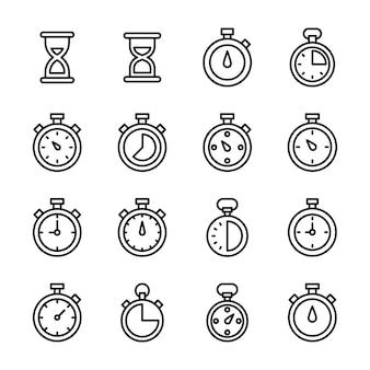 Pack de vecteurs de sablier et de chronomètre