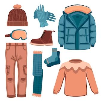 Pack de vêtements d'hiver dessinés