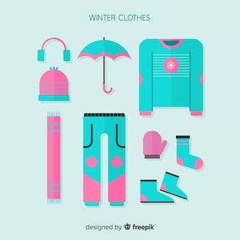 Pack de vêtements d'hiver plat
