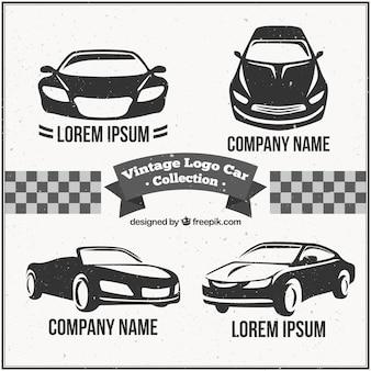 Pack voiture logo vintage