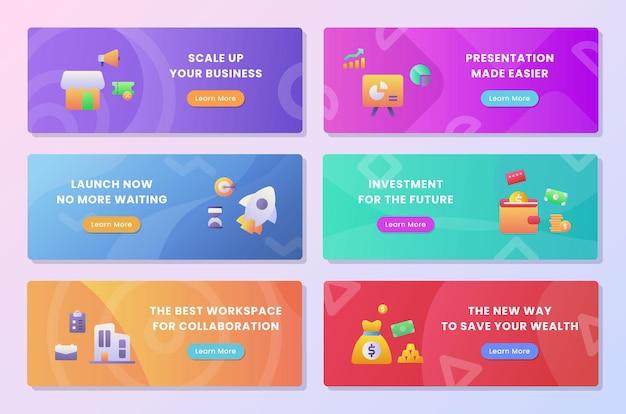 Package de collection de jeu de lancement d'entreprise