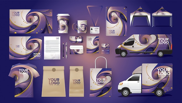 Package complet d'identité corporative