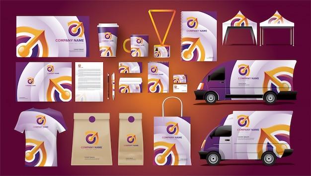 Package complet d'identité d'entreprise