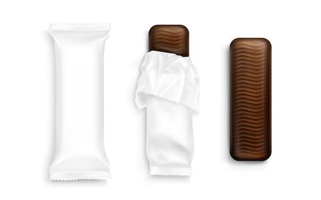 Packs de barres de chocolat réalistes