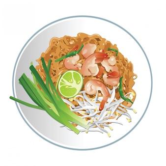 Pad thai célèbre cuisine thaïlandaise