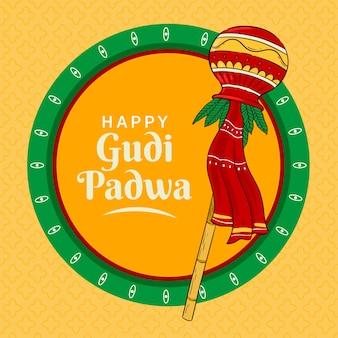 Padwa heureux dessiné à la main