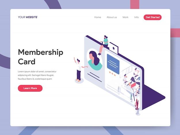 Page d'accueil de la carte de membre