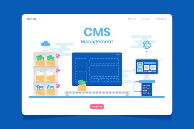 Page d'accueil de contenu cms plat