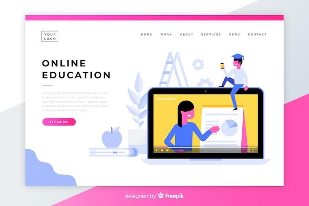 Page d'accueil de l'éducation en ligne