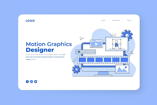 Page d'accueil flat motiongraphics