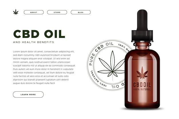Page d'accueil de l'huile de cannabis