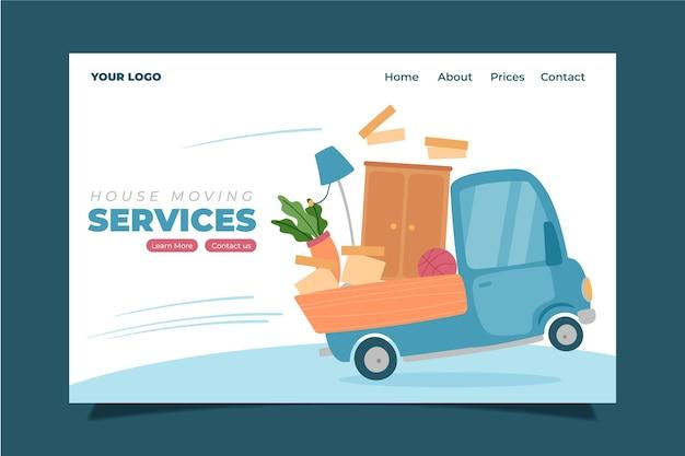 Page d'accueil des services de déménagement
