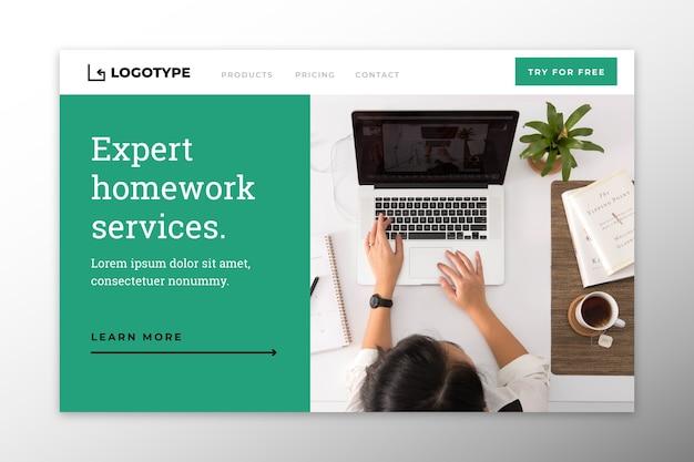 Page d'accueil des services d'experts à domicile