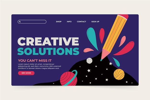 Page d'accueil des solutions créatives organiques