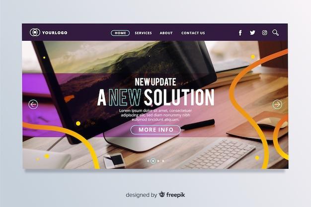 Page d'accueil avec technologie et ligne de copie d'espace en fondu