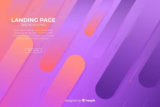 Page d'arrivée abstraite minimale