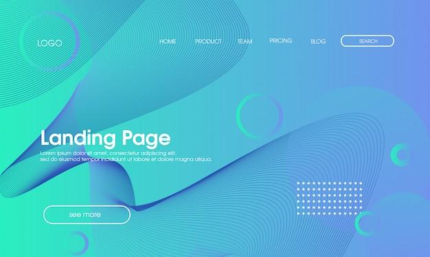 Page d'atterrissage abstrait pour le web bleu