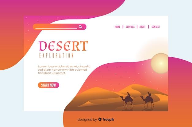 Page d'atterrissage aventure exploration du désert