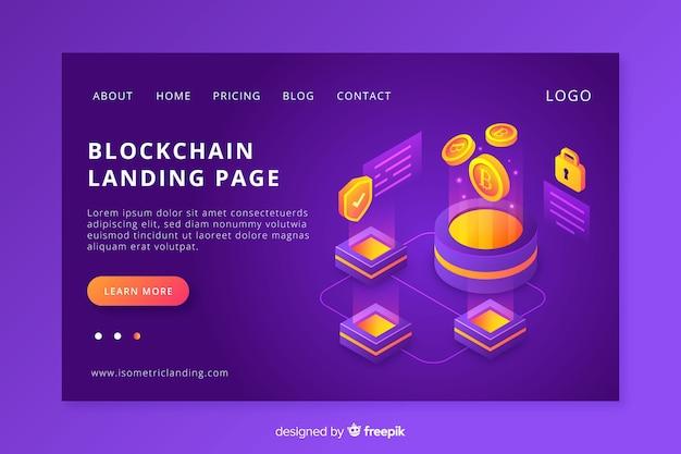 Page d'atterrissage blockchain