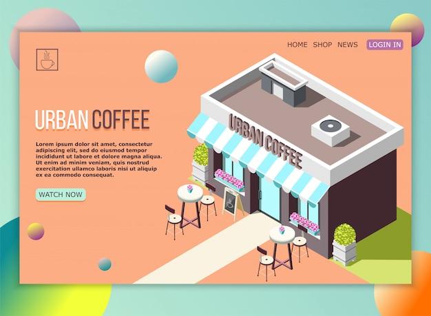 Page d'atterrissage de café de rue