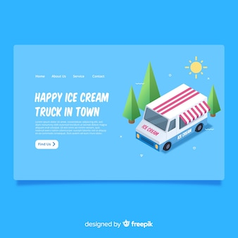 Page d'atterrissage camion de crème glacée