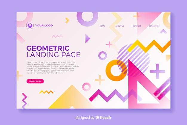 Page d'atterrissage colorée aux formes géométriques