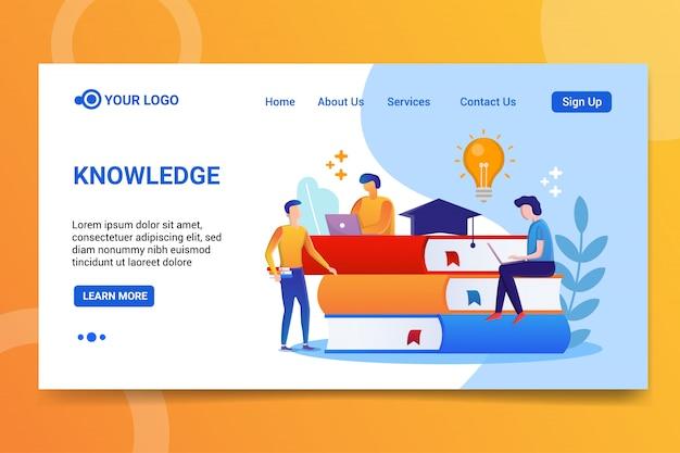 Page d'atterrissage des connaissances