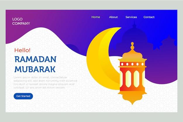 Page d'atterrissage du jour du ramadan