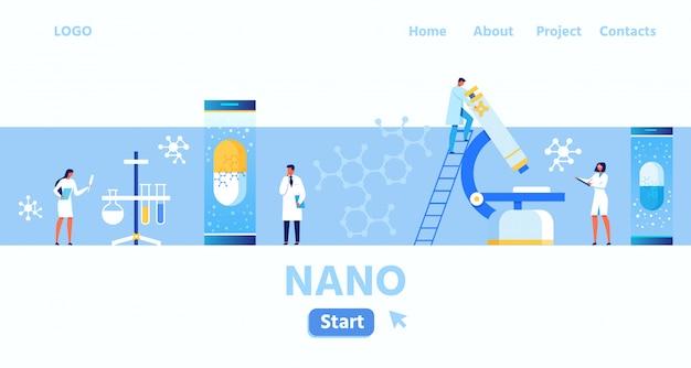 Page d'atterrissage du nano laboratoire et centre de recherche