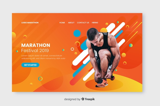Page d'atterrissage du sport marathon