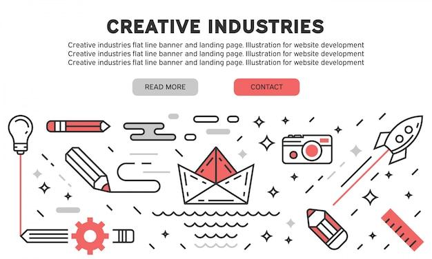 Page d'atterrissage des industries créatives