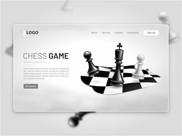 Page d'atterrissage de jeu d'échecs